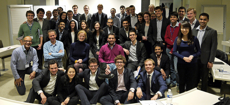 Photo: INSEAD Startup Bootcamp's team with the winners holding a boot in the first row. Photo (c) Adrian Johnson.