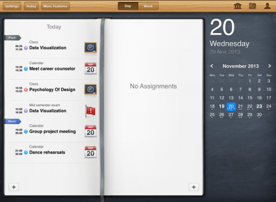 iStudiez image choice breathes life into the interface.