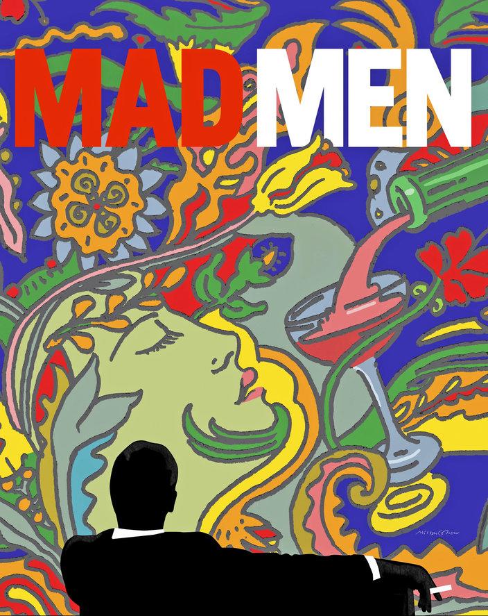 Milton Glaser – promotional poster for Mad Men.