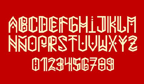 Paihuen Mapuche font by  Benjamín Rivera  (Chile).