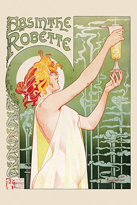 Privat-Livemont – image for Absinthe Robbete, 1896.