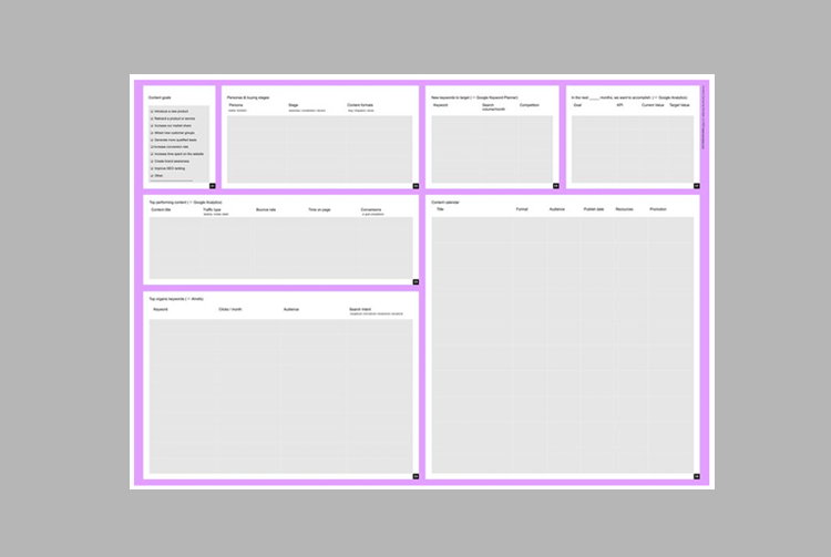 Download the free  Content Canvas