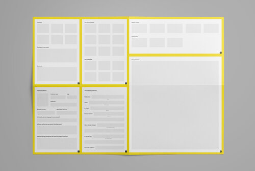 The Brand Canvas is a perfect tool to consolidate all the information uncovered during the brand discovery process into one place. Catch it here.